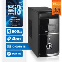 Visage PC BLEU I3 7100 - 245GD ( Core I3 7100 / 4GB / 500GB / MB GIGABYTE / DVD-RW / LINUX )