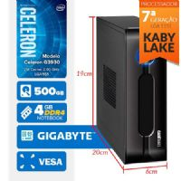 VISAGE PC BLEU G3930 - 145G VESA ( Celeron G3930 / 4GB / 500GB / VESA / MB GIGABYTE / LINUX )