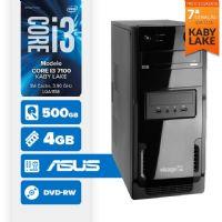 Visage PC BLEU I3 7100 - 445AD ( Core I3 7100 / 4GB / 500GB / MB ASUS / DVD-RW / LINUX )