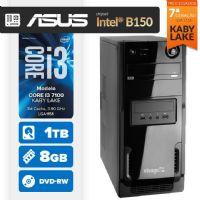 Visage PC BLEU I3 7100 - 481TABD ( Core I3 7100 / 8GB / 1TB / MB ASUS Chipset Intel® B150 / DVD-RW / LINUX )
