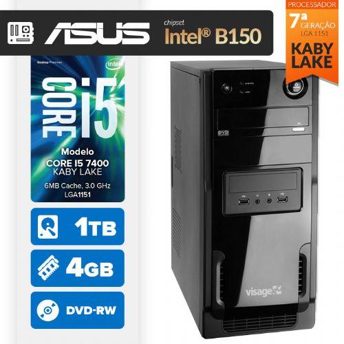 VISAGE PC BLEU I5 7400 - 441TABD (CORE I5 7400 / 4GB RAM / HD 1TB / MB ASUS Chipset Intel® B150 / DVD-RW / LINUX)