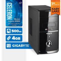 VISAGE PC BLEU G3930 - 245G ( Celeron G3930 / 4GB / 500GB / MB GIGABYTE / LINUX )