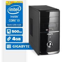 Visage PC BLEU I3 4170 - 245G ( Core I3 4170 / 4GB / 500GB / MB GIGABYTE / LINUX )