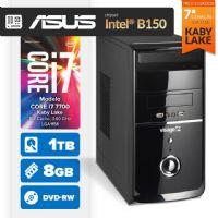 VISAGE PC BLEU I7 7700 - 281TABD (CORE I7 7700 / 8GB RAM / HD 1TB / MB ASUS Chipset Intel® B150 / DVD-RW / LINUX)