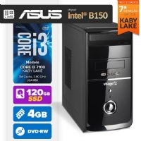 Visage PC BLEU I3 7100 - 241ABD ( Core I3 7100 / 4GB / HD 120GB SSD / MB ASUS Chipset Intel® B150 / DVD-RW / LINUX )