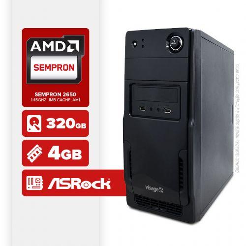 VISAGE PC VERT 2650 - 243R (SEMPRON 2650 / 4GB RAM / HD 320GB / LINUX)