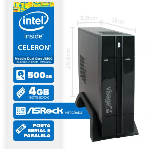 VISAGE PC BLANC D1800 - 145 1S PDV (DUAL CORE J1800 / 4GB RAM NOTE / HD 500GB / SERIAL / LINUX)
