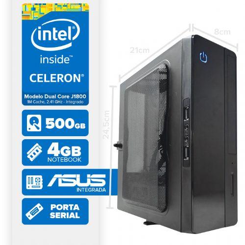 VISAGE PC BLANC J1800 - 145A 1S PDV (DUAL CORE J1800 / HD 500GB / 4GB RAM / MB ASUS / 1X SERIAL / LINUX)