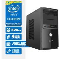 VISAGE PC BLANC J1800 - 243A 1S (DUAL CORE J1800 / 4GB RAM / HD 320GB / SERIAL / ASUS / LINUX)