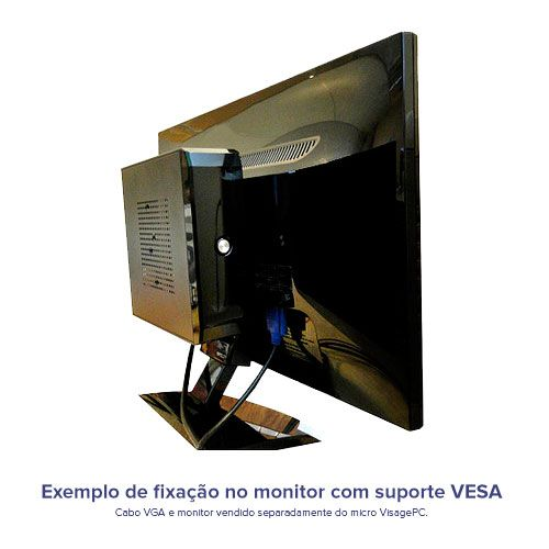 VISAGE PC BLANC J1800 - 145A 1S VESA (DUAL CORE J1800 / 4GB RAM / HD 500GB / SERIAL / HDMI / VESA / LINUX)