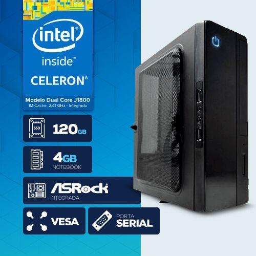 VISAGE PC BLANC D1800 - 141R 1S SSD PDV/VESA  (DUAL CORE J1800 / 4GB RAM NOTE / SSD 120GB / 1X SERIAL / VESA / LINUX )