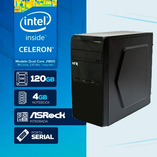 VISAGE PC BLANC D1800 - 241R 1S SSD (DUAL CORE J1800 / 4GB RAM NOTE / SSD 120GB / 1X SERIAL / LINUX)