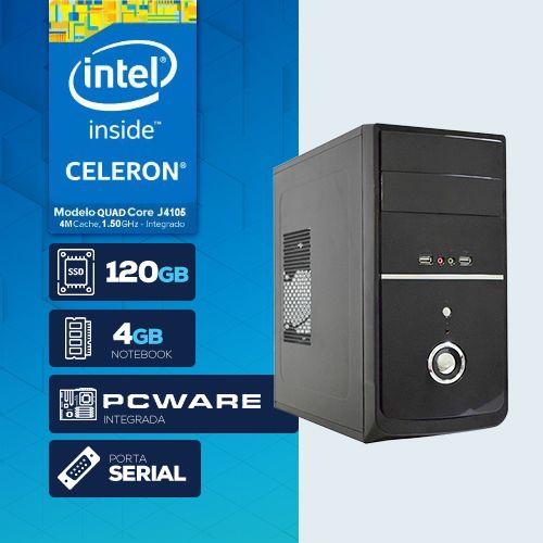VISAGE PC BLANC J4105G - 241 1S SSD (QUAD CORE J4105 / 4GB RAM NOTE / SSD 120GB / 1x SERIAL / LINUX)