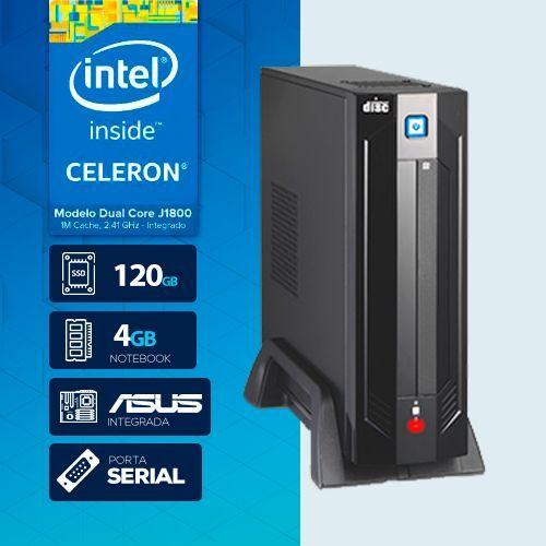 VISAGE PC BLANC J1800 - 141A SSD 1S PDV ( DUAL CORE J1800 / 4GB RAM NOTE / SSD 120GB / 1X SERIAL / MB ASUS / LINUX )