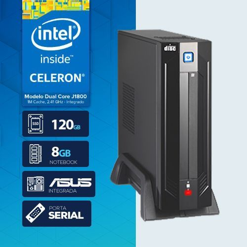 VISAGE PC BLANC J1800 - 181A SSD 1S PDV ( DUAL CORE J1800 / 8GB RAM NOTE / SSD 120GB / 1X SERIAL / MB ASUS / LINUX )