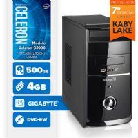 VISAGE PC BLEU G3930 - 245GD ( Celeron G3930 / 4GB / 500GB / MB GIGABYTE / DVD-RW / LINUX )