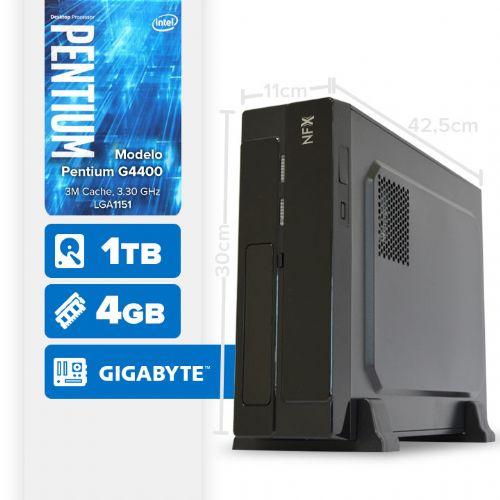 VISAGE PC BLEU G4400 - 141TG SLIM ( Pentium G4400 / 4GB / HD 1TB / MB GIGABYTE / LINUX )