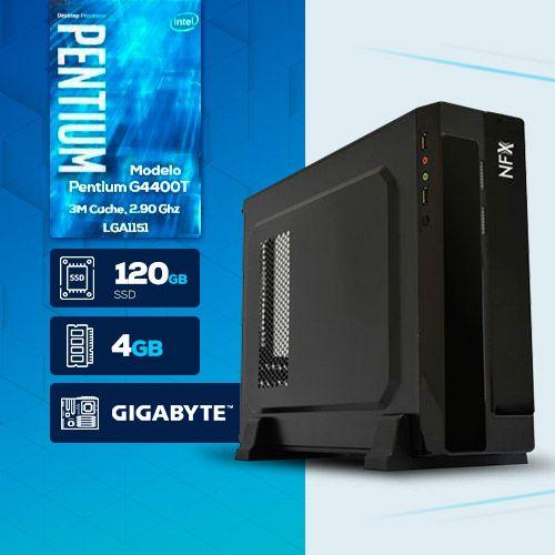 VISAGE PC BLEU G4400T - 141G SSD SLIM ( Pentium G4400T / 4GB / 120GB SSD / MB GIGABYTE / LINUX )