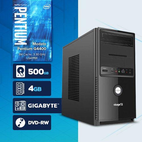 VISAGE PC BLEU G4400 - 245GD ( Pentium G4400 / HD 500GB / 4GB RAM / DVD-RW / MB GIGABYTE / LINUX )