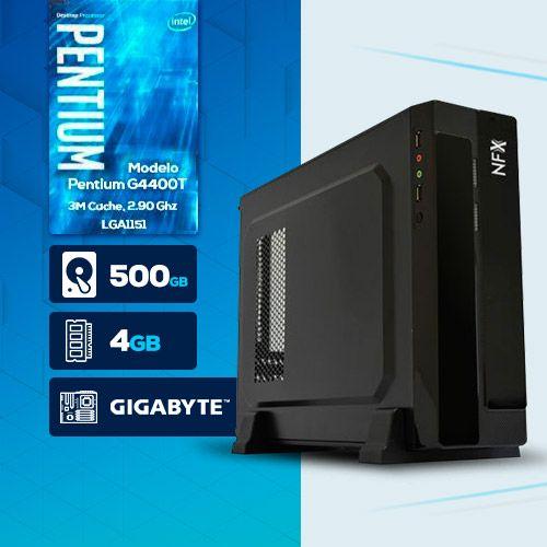 VISAGE PC BLEU G4400T - 145G SLIM ( Pentium G4400T / HD 500GB / 4GB RAM / MB GIGABYTE / LINUX )