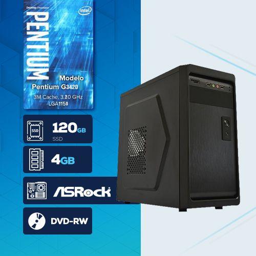 VISAGE PC BLEU G3420 - 241RD SSD  ( PENTIUM G3420 / SSD 120GB / 4GB RAM / DVD-RW / MB ASROCK / LINUX )