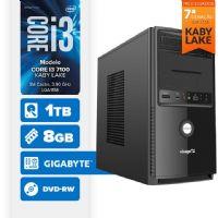 Visage PC BLEU I3 7100 - 281TGD ( Core I3 7100 / 8GB / 1TB / MB GIGABYTE / DVD-RW / LINUX )