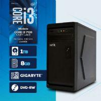 Visage PC BLEU I3 7100 - 281TGD ( Core I3 7100 / 8GB / HD 1TB / MB GIGABYTE / DVD-RW / LINUX )