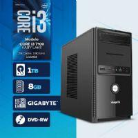Visage PC BLEU I3 7100 - 281TGD ( Core I3 7100 / HD 1TB / 8GB RAM / MB GIGABYTE / DVD-RW / LINUX )