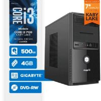 VISAGE PC BLEU I3 7100 - 245GD ( Core i3 7100 / 4GB / HD 500GB / MB GIGABYTE / LINUX )