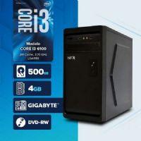 Visage PC BLEU I3 6100 - 241TGD ( Core I3 6100/ HD 500GB / 4GB RAM / MB GIGABYTE / DVD-RW / LINUX )