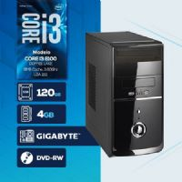 VISAGE PC BLEU I3 8100 - 241GD SSD ( Core I3 8100 / SSD 120GB / 4GB RAM / DVD-RW / MB GIGABYTE / LINUX )