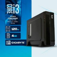 VISAGE PC BLEU I3 8100 - 141G SSD SLIM ( Core I3 8100 / SSD 120GB / 4GB RAM / MB GIGABYTE / LINUX )