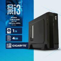 VISAGE PC BLEU I3 7350K - 141TG SLIM ( Core I3 7350K / HD 1TB / 4GB RAM / MB GIGABYTE / LINUX )