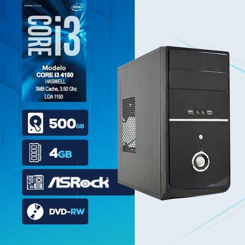 VISAGE PC BLEU I3 4150 - 245RD ( Core I3 4150 / HD 500GB / 4GB RAM / DVD-RW / MB ASROCK / LINUX )