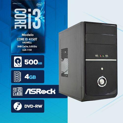 VISAGE PC BLEU I3 4150T - 245RD ( Core I3 4150T / HD 500GB / 4GB RAM / DVD-RW / MB ASROCK / LINUX )