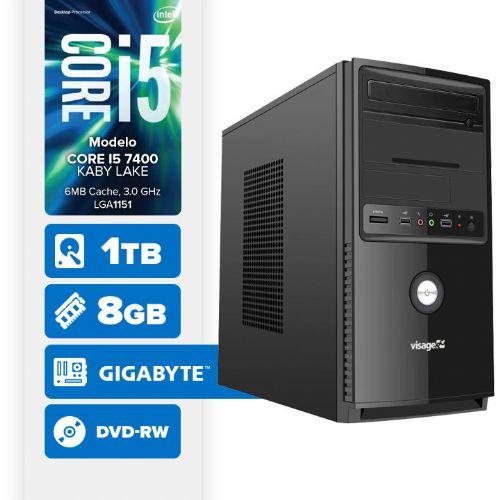 VISAGE PC BLEU I5 7400 - 281TGD ( Core I5 7400 / 8GB / HD 1TB / DVD-RW / MB GIGABYTE / LINUX )