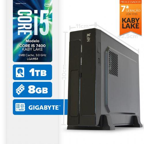 VISAGE PC BLEU I5 7400 - 181TG SLIM ( Core I5 7400 / 8GB / HD 1TB / MB GIGABYTE / LINUX )