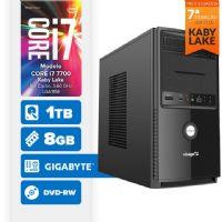 VISAGE PC BLEU I7 7700 - 281TGD (CORE I7 7700 / 8GB RAM / HD 1TB / DVD-RW / MB GIGABYTE / LINUX)