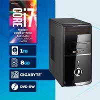 VISAGE PC BLEU I7 7700 - 281TGD ( Core I7 7700 / HD 1TB / 8GB RAM / DVD-RW / MB GIGABYTE / LINUX )