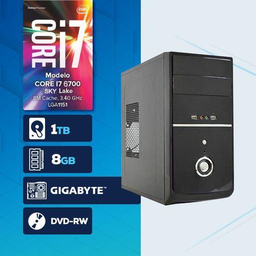VISAGE PC BLEU I7 6700 - 281TGD ( Core I7 6700 / HD 1TB / 8GB RAM / DVD-RW / MB GIGABYTE / LINUX )