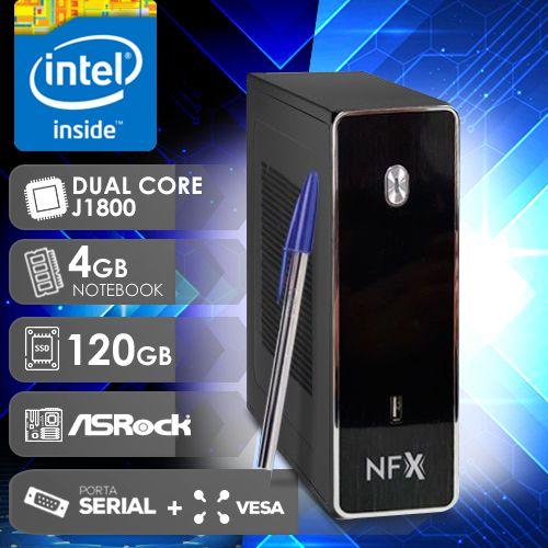 NFX PC D1800 - 141R 1S SSD VESA ( DUAL CORE J1800 / SSD 120GB / 4GB RAM / VESA / 1X SERIAL / MB ASROCK )