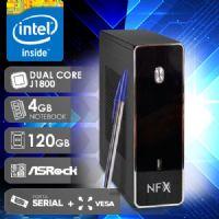 NFX PC D1800 - 141R 1S SSD VESA ( DUAL CORE J1800 / SSD 120GB / 4GB RAM / VESA / 1X SERIAL / MB ASROCK / LINUX )