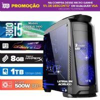 VISAGE PC Gamer I5 7400 - 481TGBD ( Core I5 7400 / 8GB / HD 1TB / MB Gigabyte Gaming-3 / 500W 80+ / DVD-RW / LINUX )