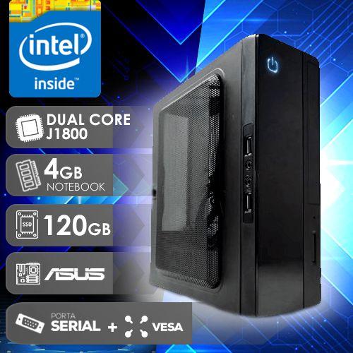 NFX PC  J1800 - 141A 1S SSD PDV/VESA ( DUAL CORE J1800 / 4GB RAM NOTE / SSD 120GB / 1X SERIAL / VESA / MB ASUS / LINUX )