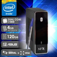 NFX PC J1800 - 141A 1S SSD VESA ( DUAL CORE J1800 / 4GB RAM NOTE / SSD 120GB / 1X SERIAL / VESA / MB ASUS / LINUX )