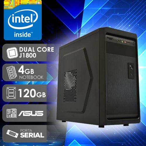 NFX PC  J1800 - 241A 1S SSD ( DUAL CORE J1800 / 4GB RAM NOTE / SSD 120GB / 1X SERIAL / MB ASUS / LINUX )