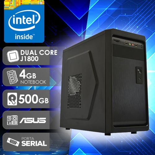 NFX PC  J1800 - 245A 1S ( DUAL CORE J1800 / 4GB RAM NOTE / HD 500GB / 1X SERIAL / MB ASUS / LINUX )