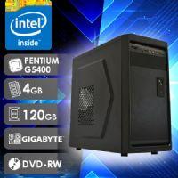 NFX PC G5400 - 241GD SSD ( PENTIUM G5400 / SSD 120GB / 4GB RAM / DVD-RW / MB GIGABYTE / LINUX )