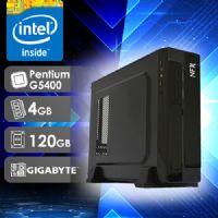 NFX PC G5400 - 141G SSD SLIM ( PENTIUM G5400 / SSD 120GB / 4GB RAM / MB GIGABYTE / LINUX )