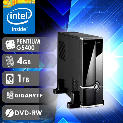NFX PC G5400 - 141TGD SLIM ( PENTIUM G5400 / HD 1TB / 4GB RAM / MB GIGABYTE / WIN 10 PRO)